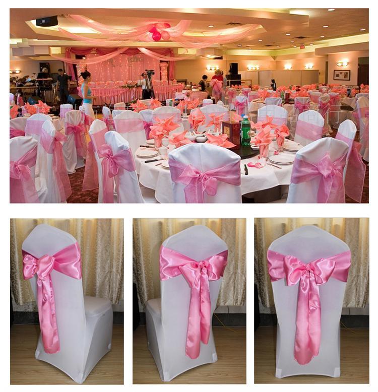 Acheter Noeud Papillon Chaise Bandes Ruban De Satin Fete Mariage Hotel Banquet Decor A La Maison 106 Du Shunhuico