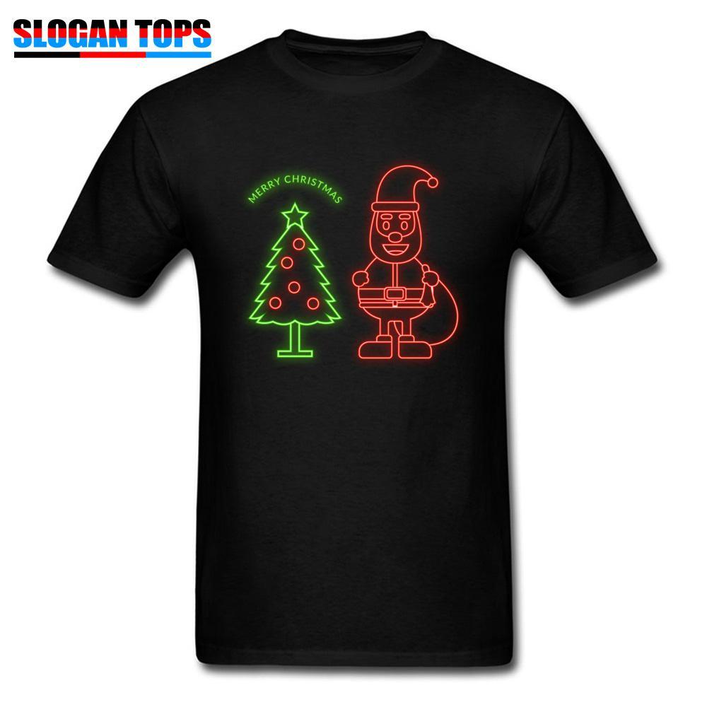 a58c54f562 Latest T Shirt Men Xmas Gift Tshirt Neon Christmas Tree Santa Claus T Shirts  Printed Adult Cartoon Tops Fun Holiday Tees Cotton Funny Print T Shirts ...