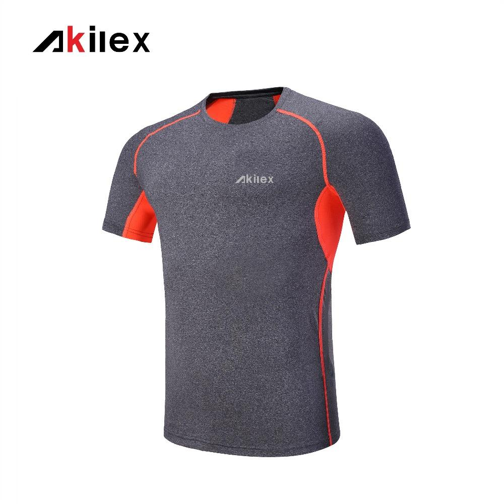 ac2b3f956 2019 Akilex Men'S Running T Shirt Sport Brand Running Jersey High Quality  Fitness Top Quick Dry Tees From Masn, $22.77 | DHgate.Com