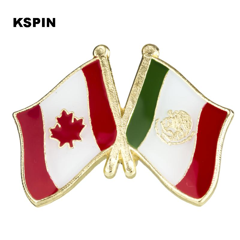 2018 Badge Metal Canada Vs Mexico Friendship Flag Pin Badge Badges For  Clothes In Badges Brooch For Clothes From Liyun0402, $1.51 | Dhgate.Com