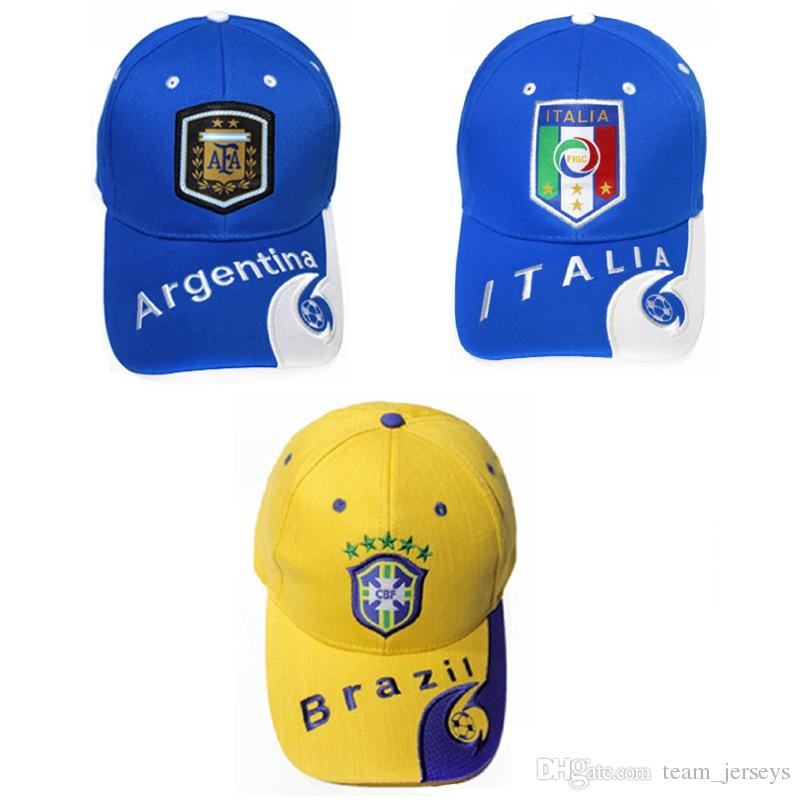 5f37341f166 2019 Motorcycle Racing Hat Soccer Fans Casquette Baseball Cap Germany France  Brazil National Team Hats Sun Protection Outdoor Sports Caps From  Team jerseys