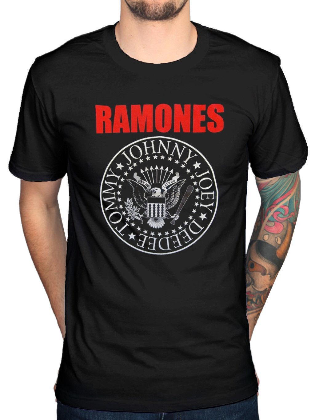 3332300f Official Ramones Red Text Seal Logo T Shirt Road To Ruin Rocket To Russia  Online Tee Shirts Shopping Funniest Tee Shirts From Cooltees, $11.17|  DHgate.Com