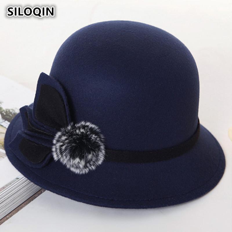 86562fd26cb46d SILOQIN Women's Hats Retro England Warm Fedoras 2018 New Style ...