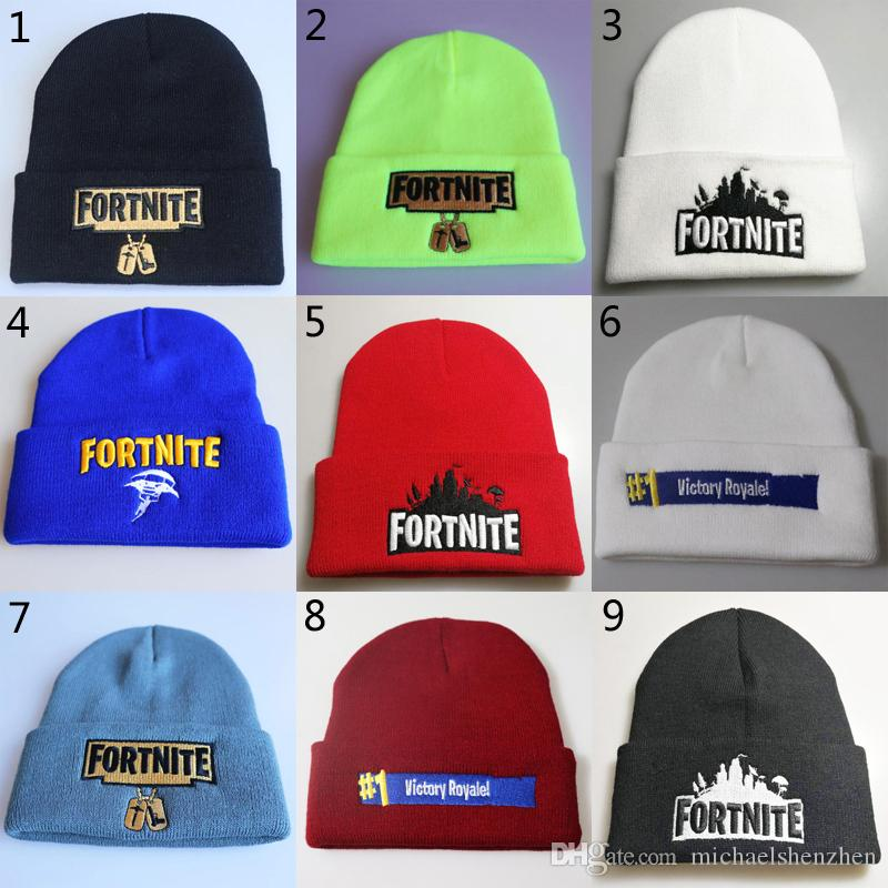 ea3d8aa60b8 23 Style New Game Fortnite Battle Royale Cotton Hats Knitted Hat Hip ...