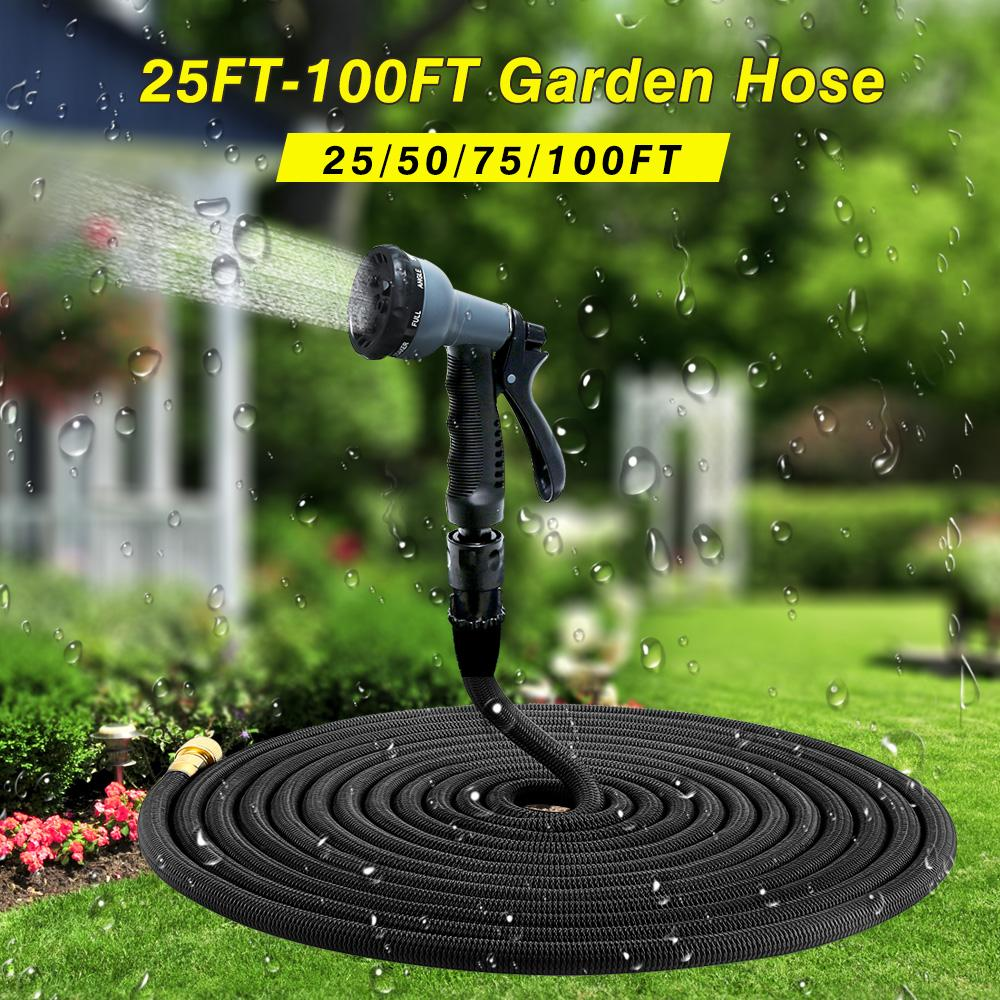 100 ft garden hose. high quality 25ft-100ft garden hose expandable magic flexible water plastic hoses pipe with spray gun to watering china 100 ft