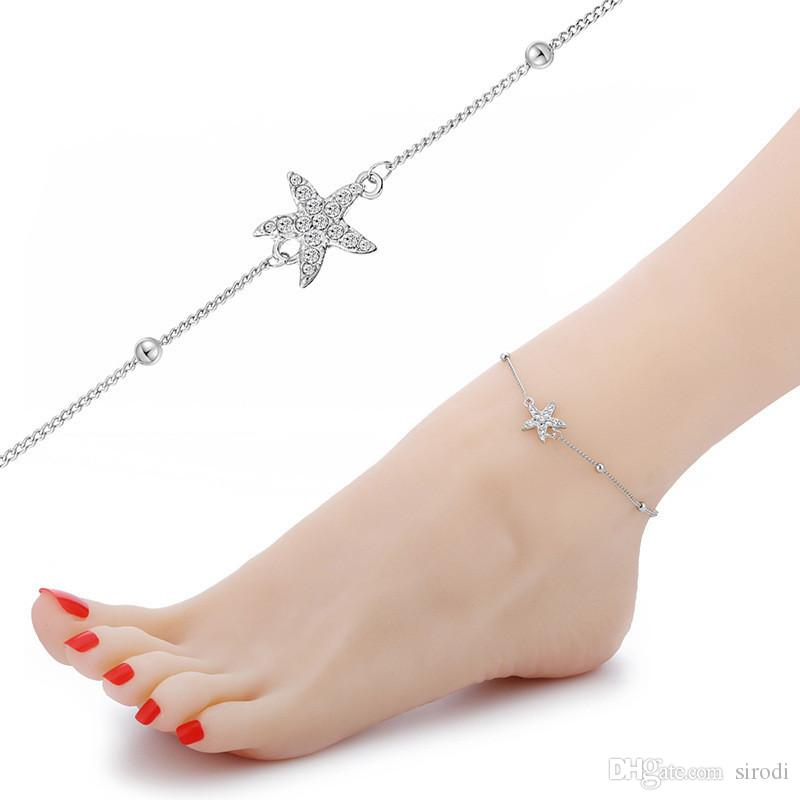 2019 Fashion Starfish Anklet Foot Jewelry Women Sexy Barefoot Sandals Ankle  Bracelets Summer Beach Gold Chain Lady Ankle Bracelet From Sirodi cad8ad40e742