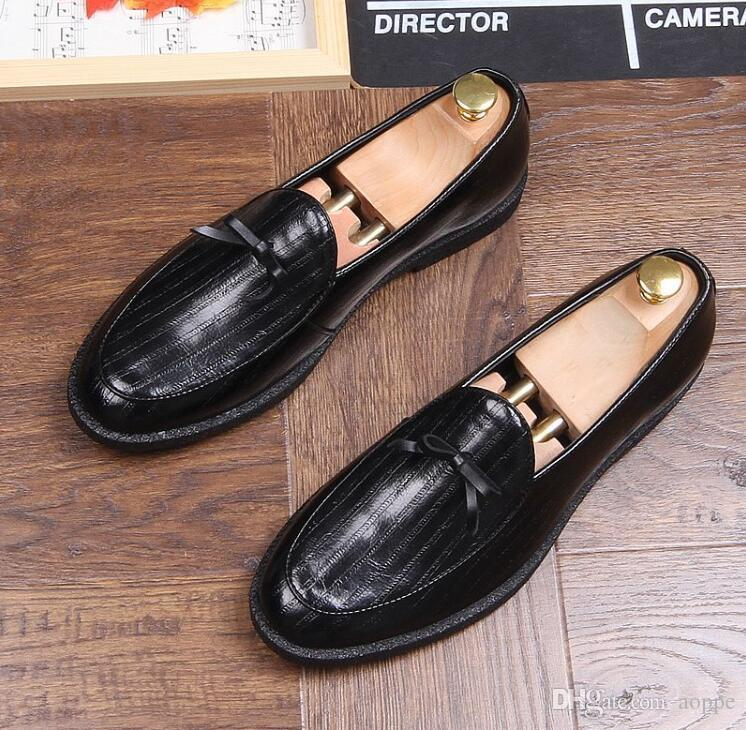 80235de040c3 Spring Hot Sales Mens Shoes Microfiber Men Dress Shoes Bowknot Stylist Mens  Designer Shoes Homecoming Men Luxury Loafers 763 Shoe Boots Sexy Shoes From  ...