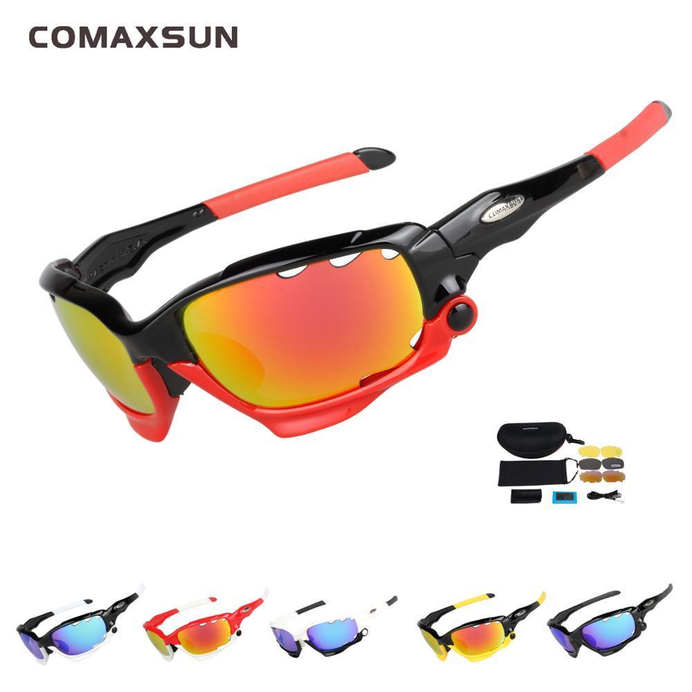 09e8184975 2019 COMAXSUN Professional Polarized Cycling Glasses Bike Goggles Fishing  Outdoor Sports Sunglasses UV 400 3 Lens STS815 From Jaokui