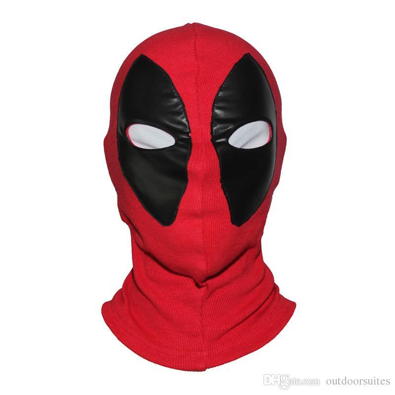 X-Men Deadpool Maskeleri Balaclava Yetişkin Cadılar Bayramı Cosplay Headgear deadpool için Tam Yüz kostüm Bir Boyut Ayarlamak Beyaz ve Kırmızı