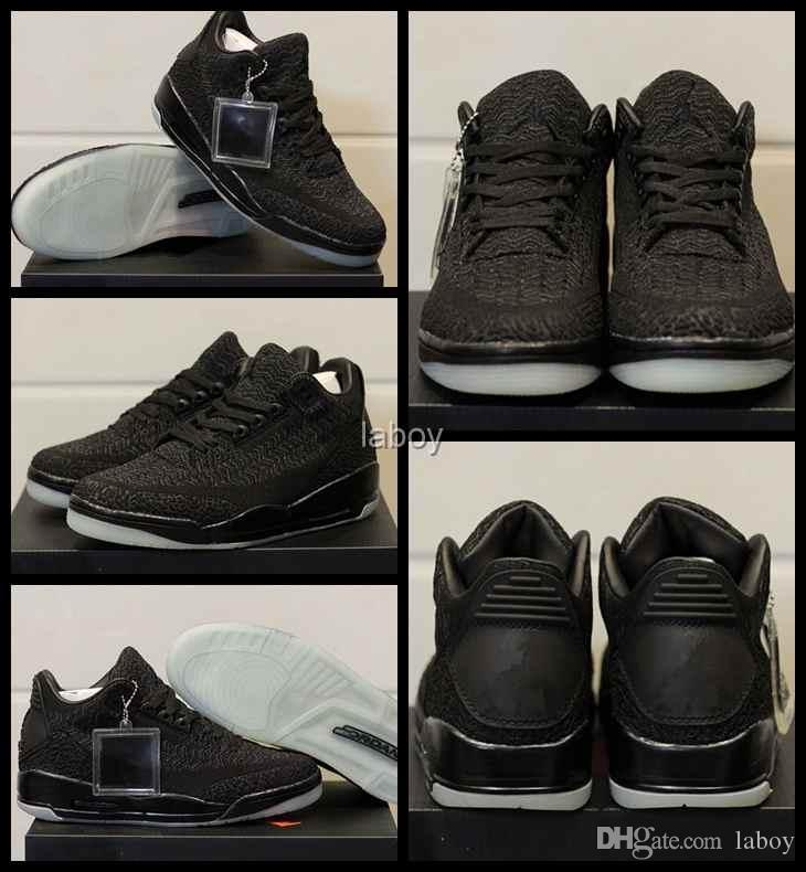 f17e76db711 With Box Men 3 III 3s Basketball Shoes Top Quality Knitting Mens Sports  Retros Designer Basket Sneakers Trainer JumPMAn Air Chaussures Mens Shoes  Basketball ...