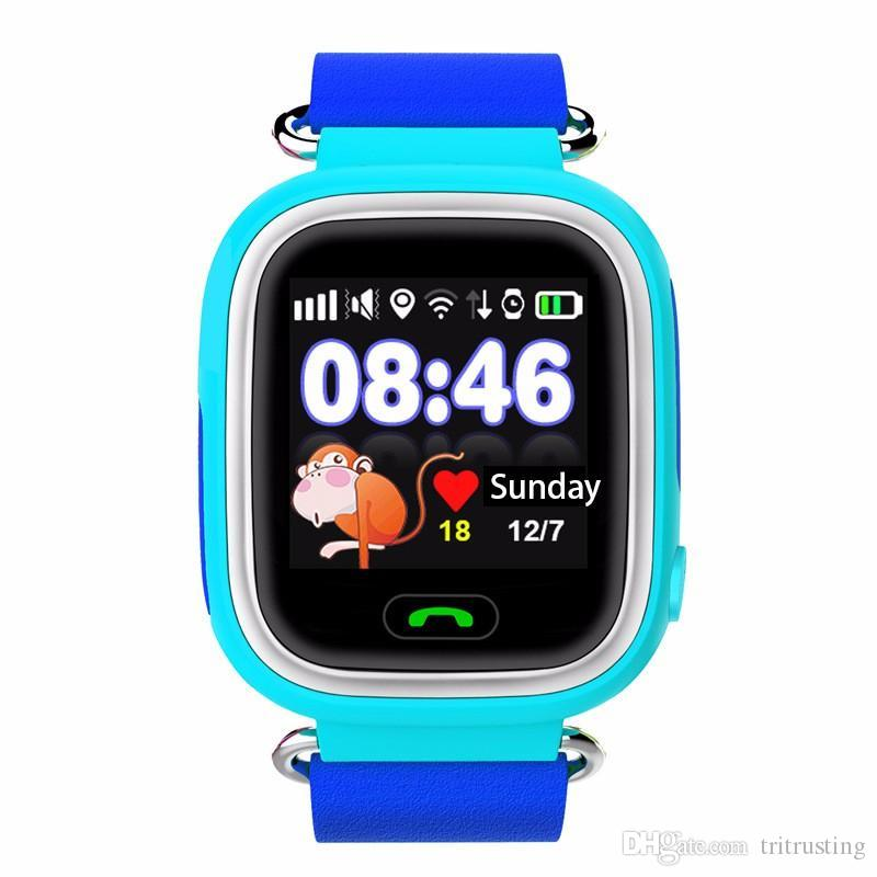 Q90 Kids Bluetooth Smartwatch Q 90 Smart Watch For Child IPhone Android Smart Phone with GPS Tracker WiFi LBS Wearable Device MQ10