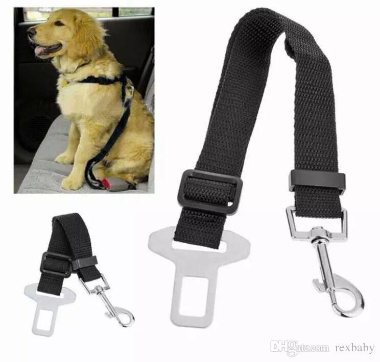 Adjustable Car Safety Pet Dog Seat Belt Pet Accessories Belt Harness Restraint Lead Leash Travel Clip