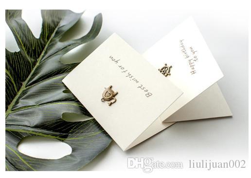Acheter Cartes De Bndiction Vacances Carte Visite Avec Enveloppe Message Dcoration Ancre En Mtal 52262 Du Liulijuan002