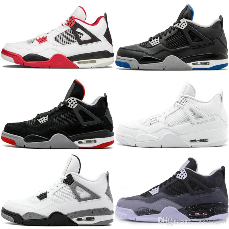 23bc7b65457b76 2019 Wholesale 4 White Cement Bred Fire Red IV 4s Men Women Basketball Shoes  AAA Quality Sneakers Sports Trainers SIZE 36 47 From Forward 05