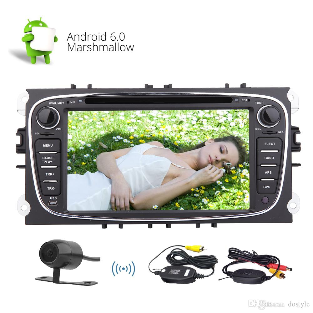 7'' Double din Android Car Stereo 6.0 Marshmallow Quad-core System Car DVD Player in Dash GPS Navigation Autoradio Bluetooth For Ford Focus