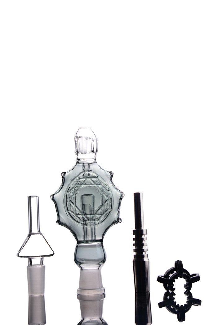 Su Boruları 14mm Nektar Bong kiti kolye toplayın Titanyum İpuçları cam bonglar eli Petrol Kuyuları Konsantre eklem kurulamak sigara aksesuarları kuleleri