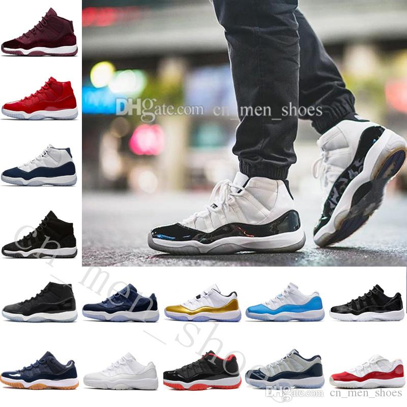 e41762f21c34 Good Quality 11 Mens Basketball Shoes Space Jam 45 Gym Red Midnight ...