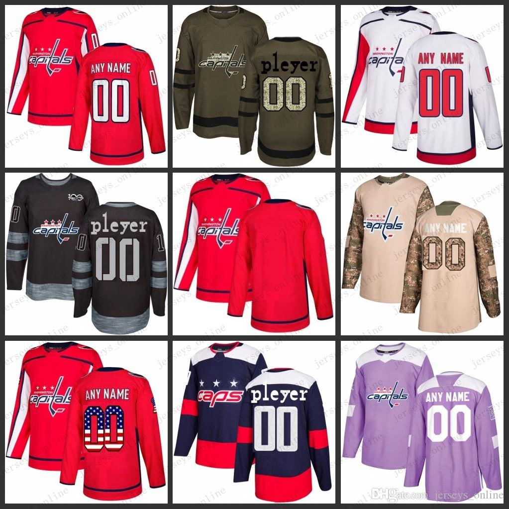 6336dc651cb Custom Mens Women Youth Washington Capitals 8 Alex Ovechkin 43 Tom ...