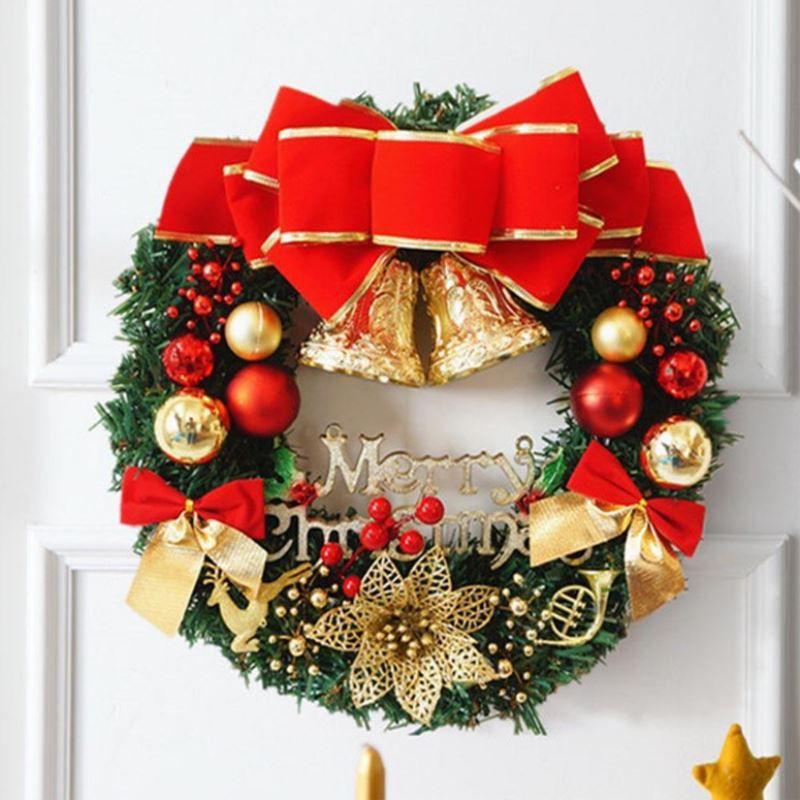 New 30cm Metal Silver Colour Wreath Hanger Christmas Door Decoration