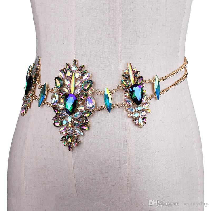 2018 مثير هيئة سلسلة مجوهرات الزفاف رخيصة الساخن بيع متألقة حجر الراين crystasl بيكيني شاطئ الزفاف حزب مجوهرات الزفاف