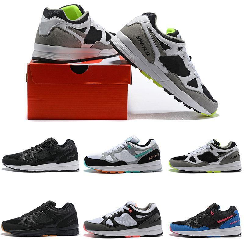e3051f7ad595 Acheter Span Ii Chaussures De Course Pour Hommes Bong Noir Blanc Kylie Homme  Concepteur Sneakers Formateur Hommes Sport Hommes Chaussures Zapato Runner  ...