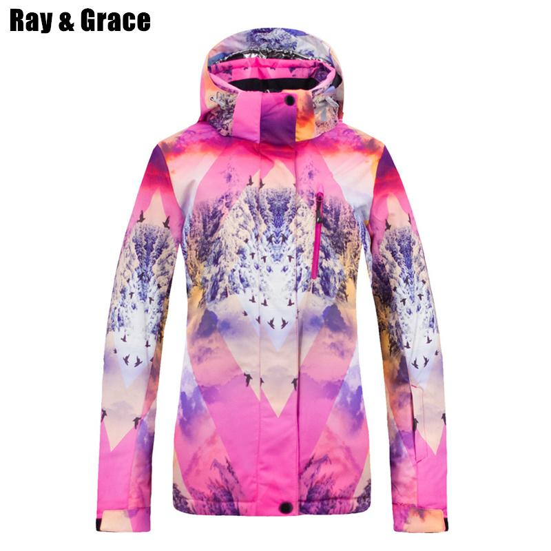2019 RAY GRACE Women S Ski Snowboard Jacket Waterproof Windproof Winter Snow  Sport Clothes Women Skiing And Snowboarding Jacket From Suipao 254c64e4c
