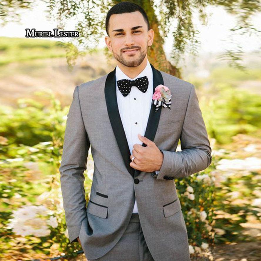 5c2ecc53e3 Muriel Lester Men's Fashion Wedding Suits For Men Slim Fit Formal Tailor  Made Groom Prom Dress Tuxedo 2 Piece Blazer Jacket+Pant
