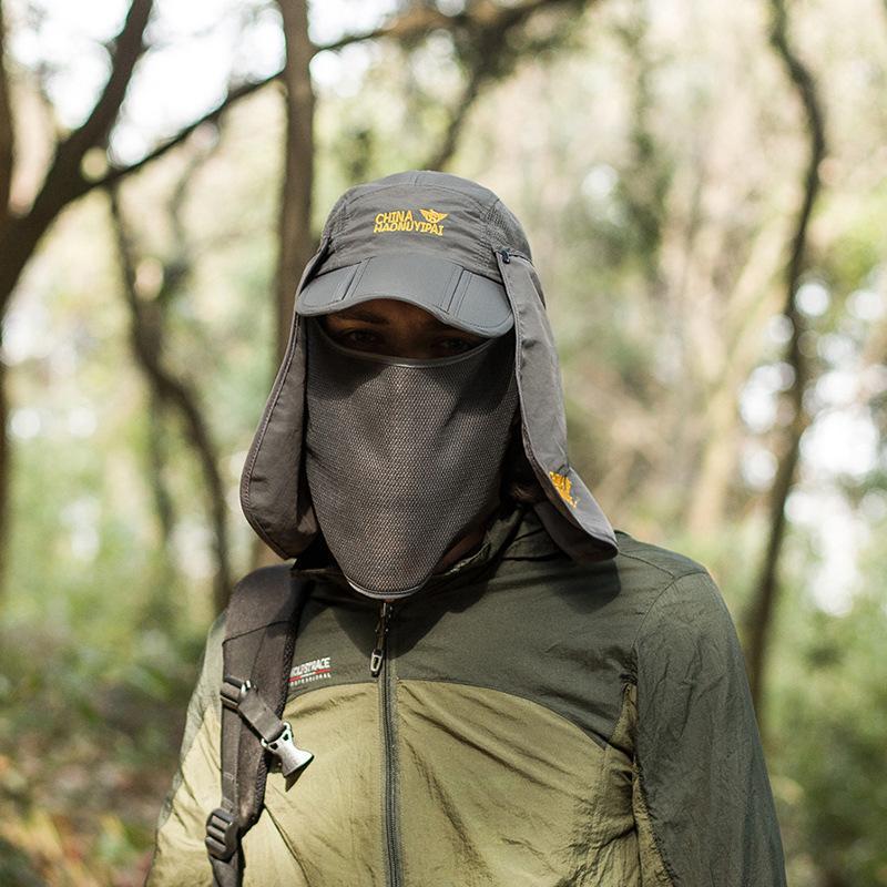 9fb62ac899a0d 2019 Outdoor Summer Hiking Unisex Sun Hat Face Neck Flap Hats Face ...