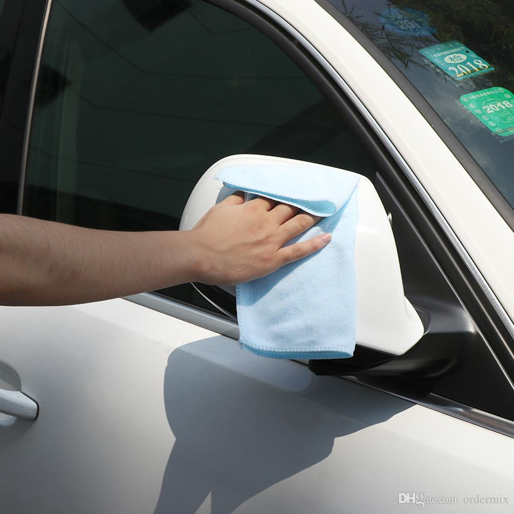 Microfiber Lavagem Toalhas limpas de carro de limpeza de carro Panos macios 30x30cm