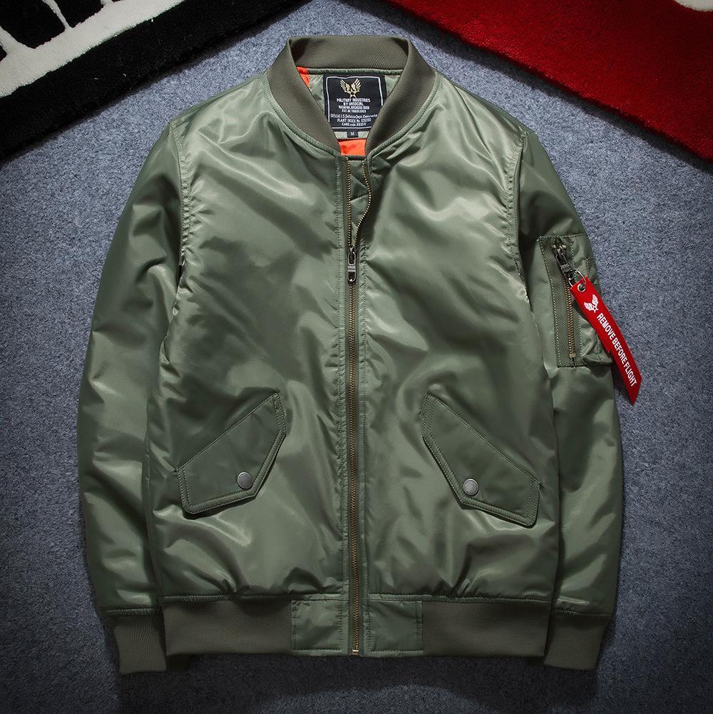 Jackets Mens Fashion Bomber Jackets Us Flag Air Force Pilot Jackets Autumn Windbreaker Coat
