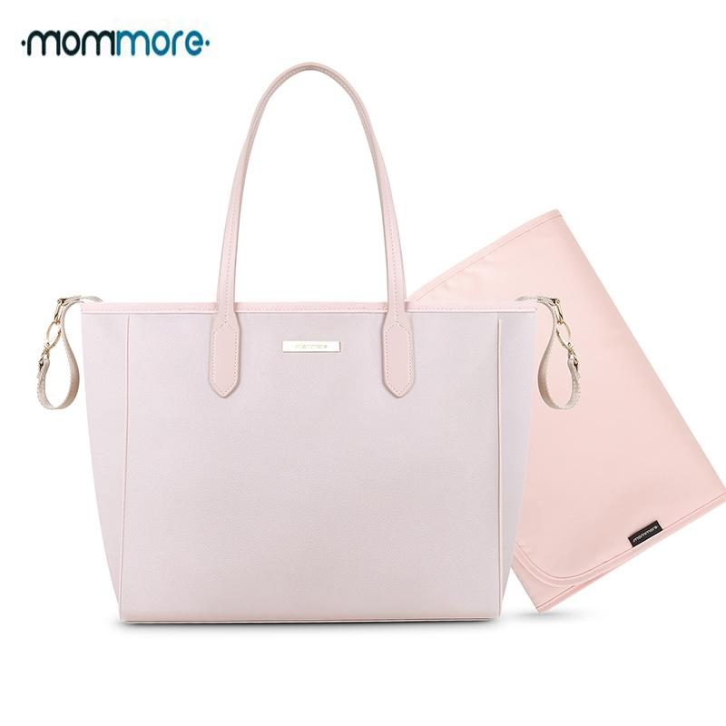 2019 Mommore Nylon Diaper Bags Large Totes Shoulder Bag With Changing Pad  For Baby Mother Nappy Shoulder Bags Baby Stroller From Newyearable 9ede1579d02d6