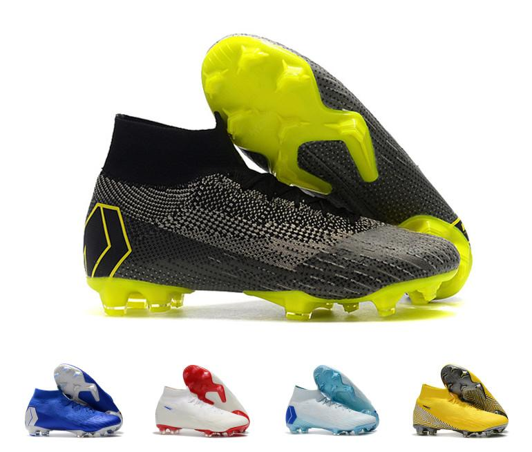 ef05faf0e62 2019 Desiger 2018 Word Cup Football Boots Men Mercurial Superfly VI 360  Elite Neymar FG Soccer Shoes High Ankle CR7 Indoor Soccer Cleats From  Onlinechat7