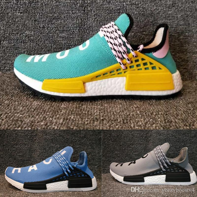Wholesale NERD Human Race Runner R1 Hu Trail Running Shoes Men Women Pharrell Williams Yellow Noble Ink Core Black Blue Sneaker Shoes 36-45 ebay for sale affordable for sale clearance hot sale nehs5