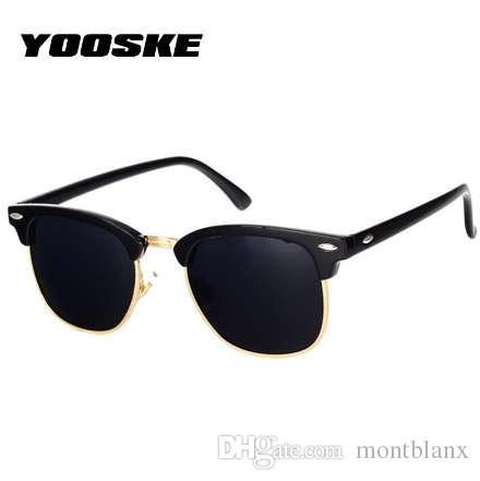 cb6531ef5e YOOSKE Classic Polarized Sunglasses Men Women Retro Brand Designer High  Quality Sun Glasses Female Male Fashion Mirror Sunglass Tifosi Sunglasses  Cheap ...