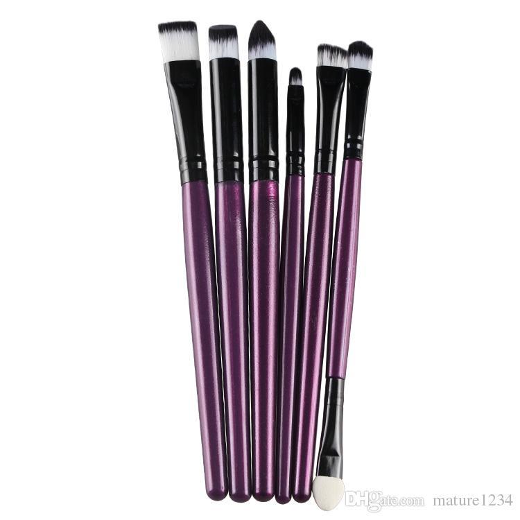 10 farbe hand 6 stücke marke Make-Up Pinsel Professionelle Kosmetik Pinsel set Mit Kontur Pulver Kosmetik Pinsel Make-Up