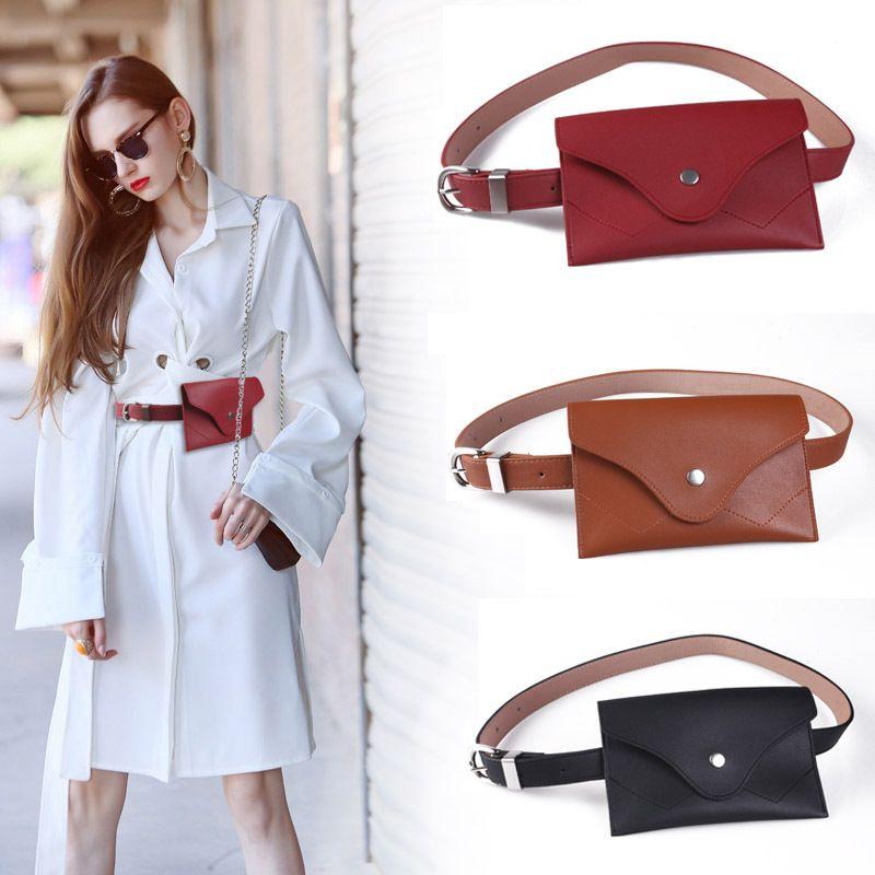 e64fcddc9d9 2018 Female Belt Wallet Phone Bag Key Accessories Cummerbund Elegant Women s  Leather Elastic Waist Belt Corset Cinto Feminino Belt Sizes Back Support  Belts ...