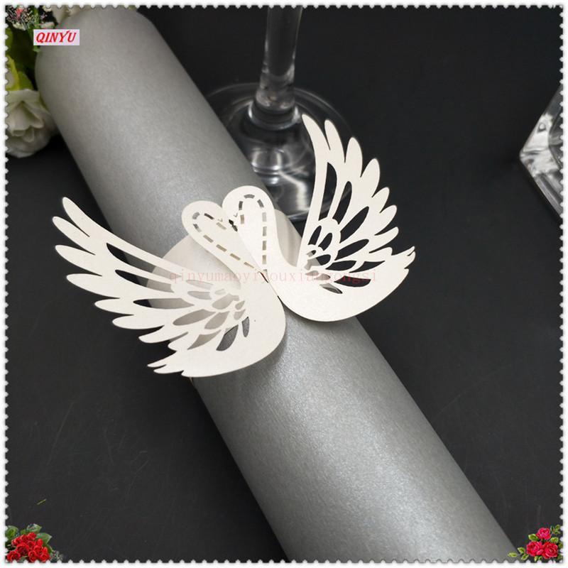 2019 Paper Wedding Napkin Rings Wedding Serviette Table Decoration