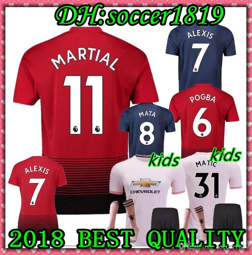 18 19 FC Manchester United Soccer Jersey 2019 Man Jersey UTD POGBA ... 07fd0ac4a