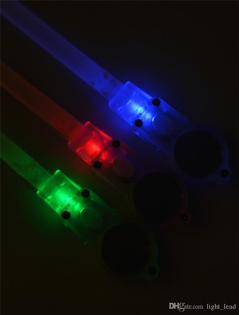 35 cm LED Bisiklet Lambası Kemer Pil Operasyonu 3 Modu Ayarlanabilir Bisiklet Dekoratif Lamba Kırmızı Yeşil Mavi Işık Araba Çerçeve Lambası