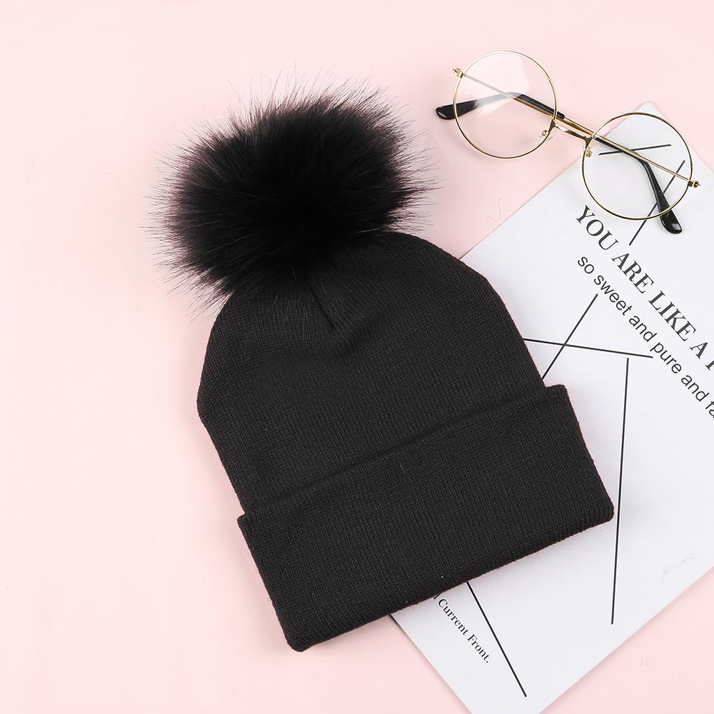 New Women Fur Pom Pom Hat Ball Beanies Girl S Winter Warm Knitted Hats  Crochet Cap Fur Knitted Warm Gorros Thick Woman Cap Mens Hats Straw Hat  From Alley66 fb9cc179fb