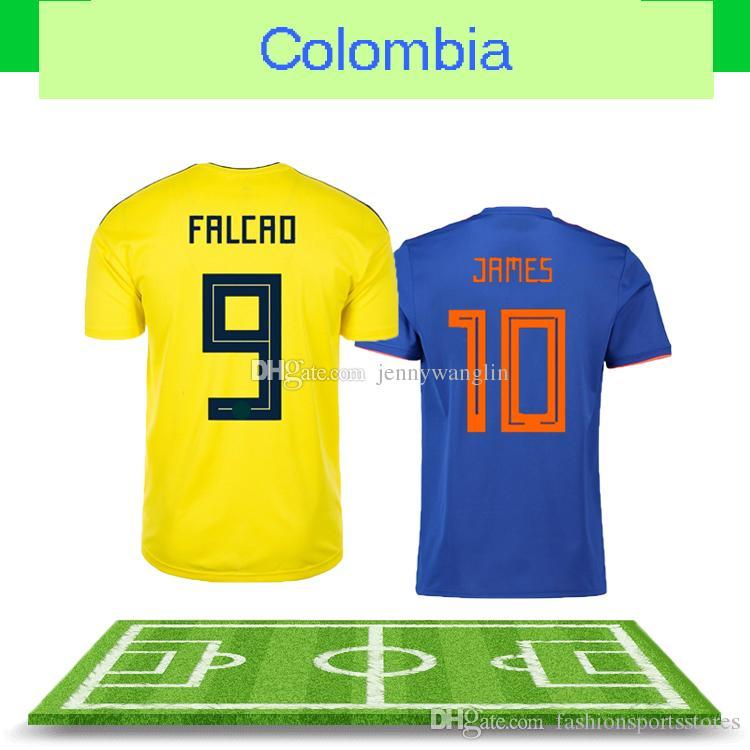 ff352ac35 2019 Maillot De Foot Promotion Rushed 2018 World Cup Colombia Football  Uniform For Falcao Cuadrado Home Away Thailand Aaa+ Soccer Jer Wholesale  From ...