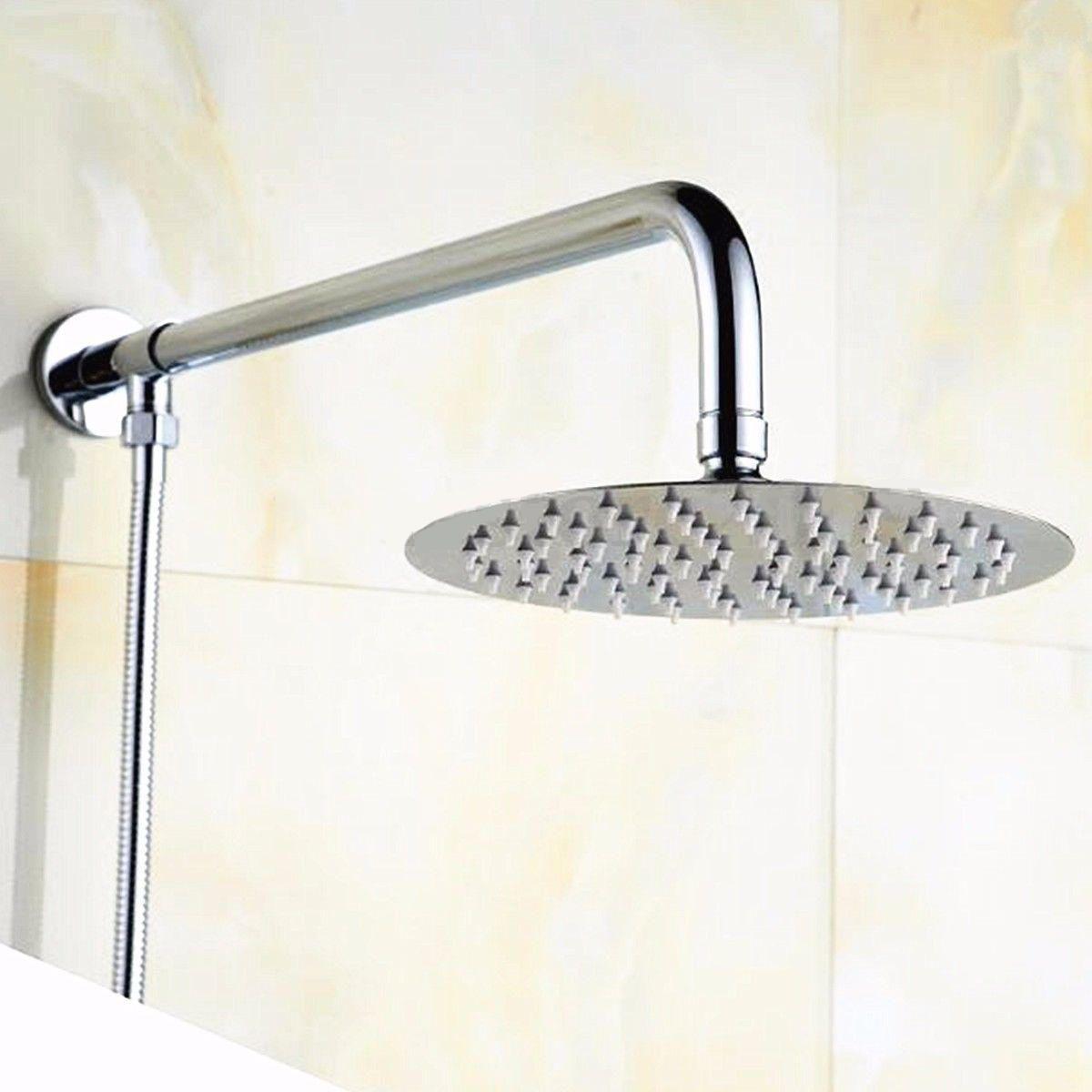 2018 Mayitr Round Rain Shower Head Thin Stainless Steel Rainfall Shower Head  Bathroom Top Sprayer 10inch New From Williem, $36.39 | Dhgate.Com