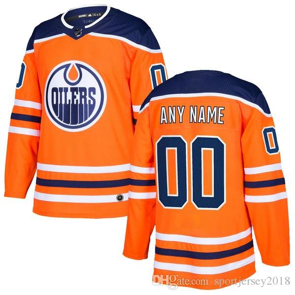3b28b8e60 2019 2018 NHL Edmonton Oilers HOCKEY Jerseys New On Sale Men S T Shirt  Hockey Jersey Customized Item Size M L XL XXL From Sportjersey2018