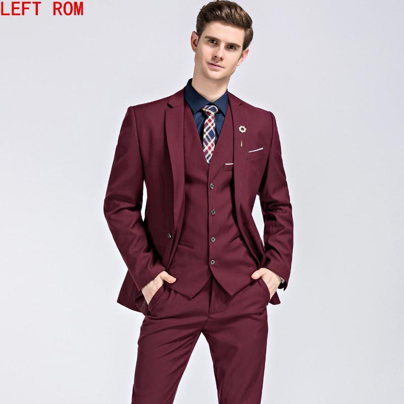 Compre 2017 Marcas Famosas Trajes Para Hombre Novio De La Boda Más El Tamaño  M 5XL 3 Piezas Chaqueta + Chaleco + Pantalón Slim Fit Casual Esmoquin Traje  ... d89a4eaf187