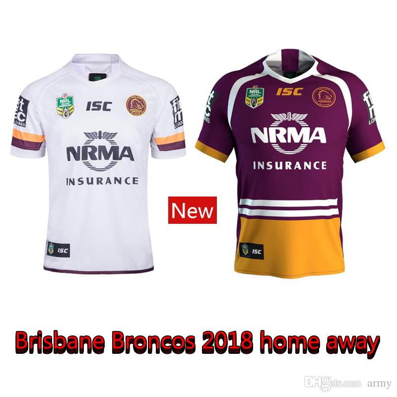 3744087784c 2019 2018 2019 Home Away Newest Brisbane Broncos Rugby Jerseys NRL National  Rugby League Shirt Nrl Jersey 18 19 BRISBANE BRONCOS Shirts S 3xl From Army,  ...
