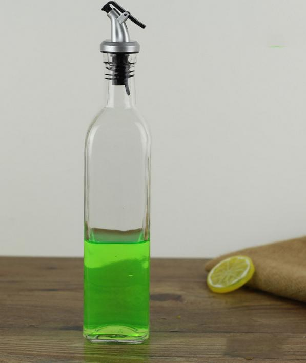 500ML Glass Olive Oil Vinegar Dispenser Gravy Boat Pourer Cooking Wine  Condiment Storage Bottle Organizer Tools Kitchenware