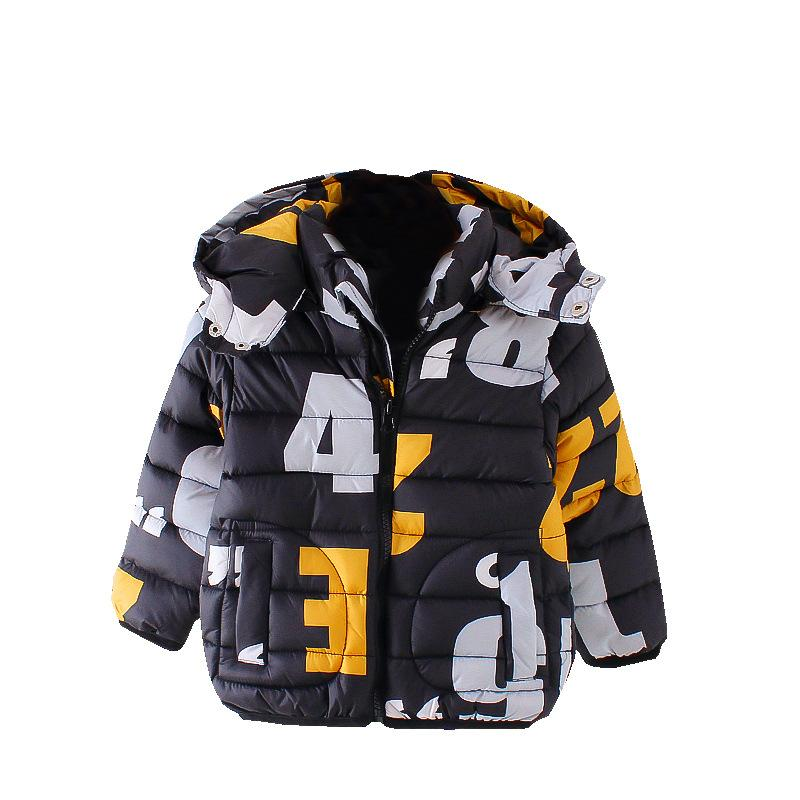 Baby boys Winter Hoodies 2017 Coat Kids warm outwear child Thicken Parkas Jacket Christmas Warm Clothing 2 years cartoon clothes