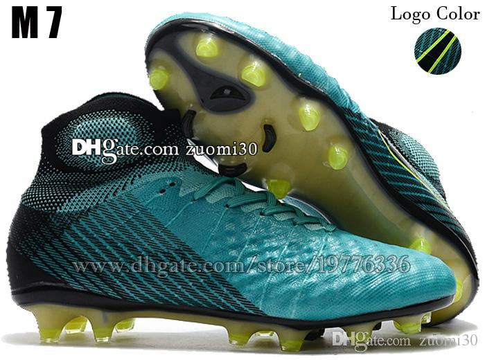 Mens Magista Obra II FG Original Soccer Cleats Socks Football Shoes High Ankle Football Boots Magista ACC Soccer Boots Trainers Size 39-46