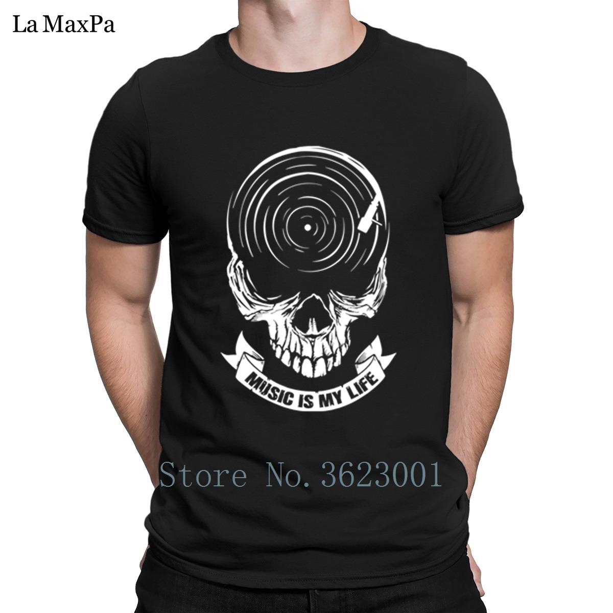 250b446a Knitted Slim T Shirt Clothing Music Is My Life T-Shirt Classical Funky  Tshirt Man S-3xl Men's T Shirt Hiphop Top