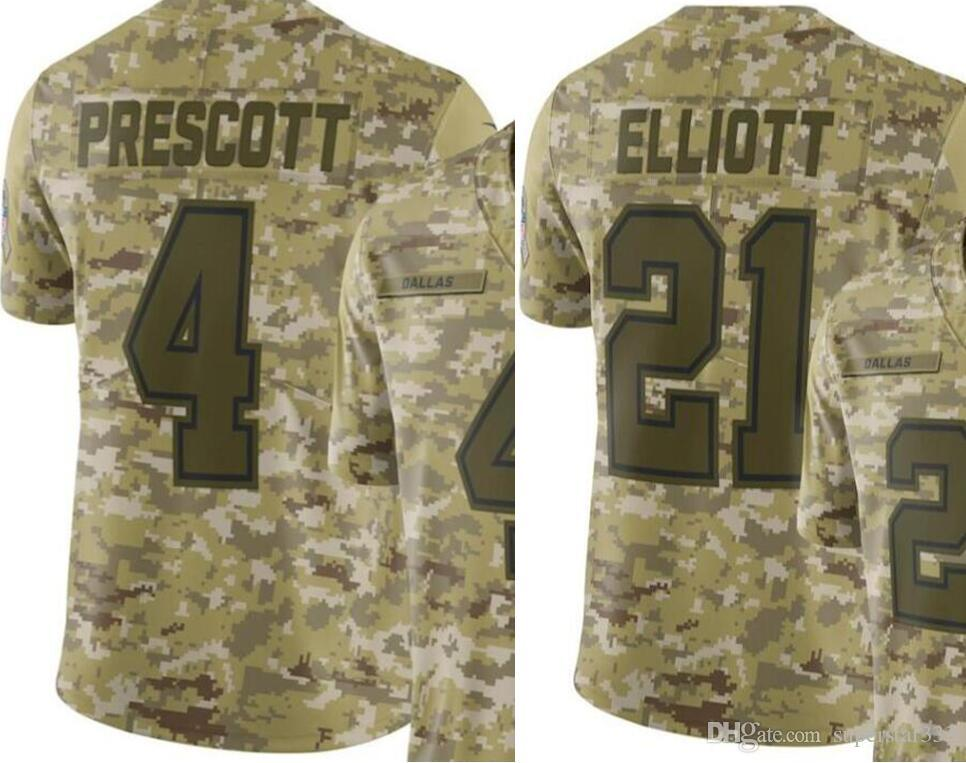 Men Dallas 21 Jersey 4 Jerseys Embroidery And 100 Stitched Camo